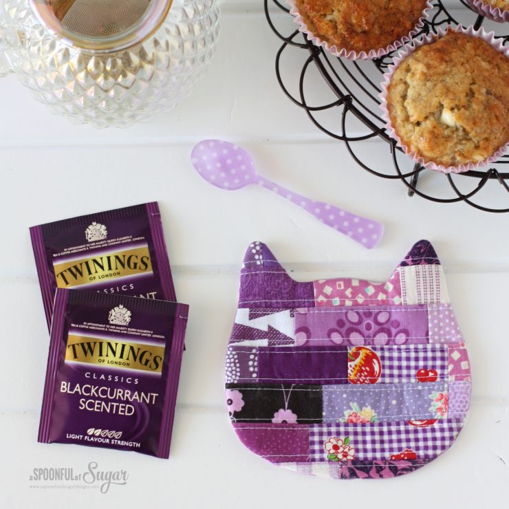 Cosy Cat Coasters PDF Sewing Pattern by A Spoonful of Sugar Designs. Pattern available in Pattern Shop an Etsy Store.