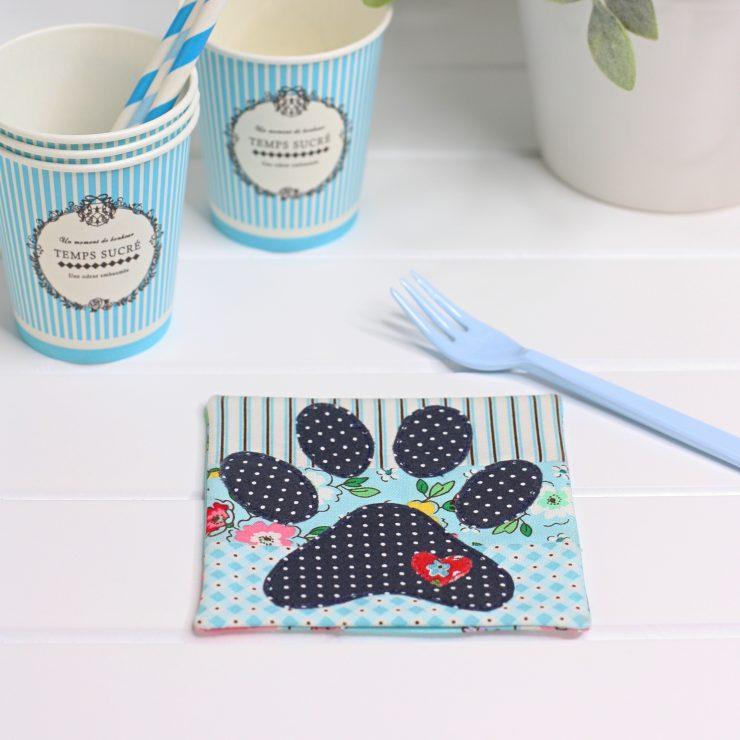 Dog Paw Coaster Mug Rug PDF Sewing Pattern by A Spoonful of Sugar