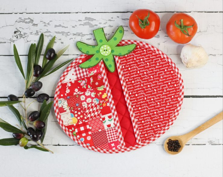 Tomato Pot Holder PDF Sewing Pattern by A Spoonful of Sugar Designs