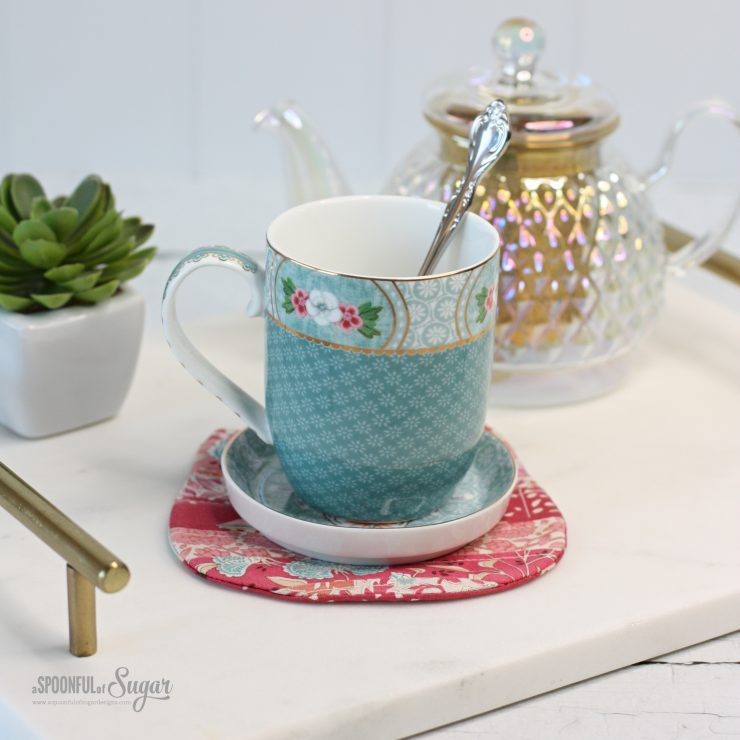 Cosy Cat Coaster PDF Sewing Pattern by A Spoonful of Sugar Designs. Available in Pattern Store and Etsy shop.