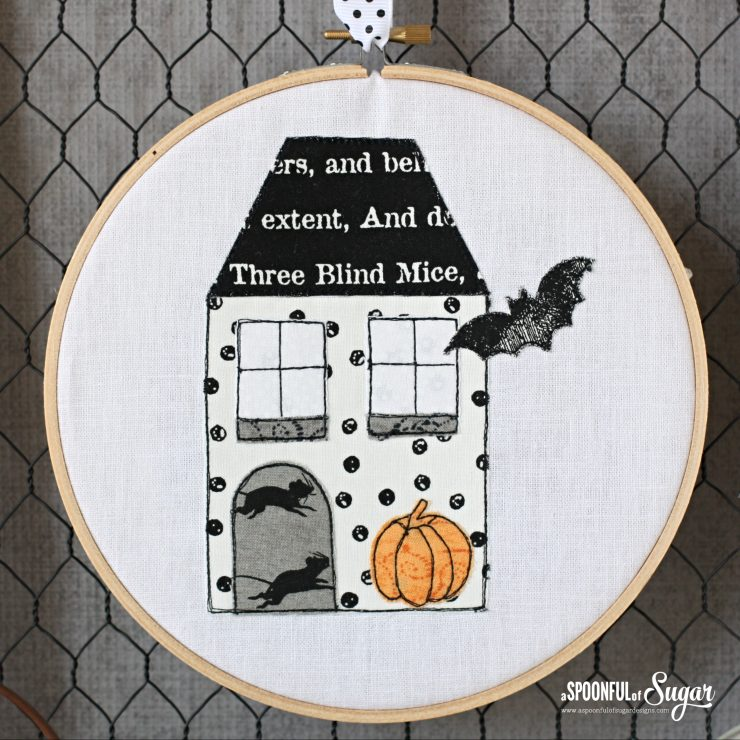 Halloween Cottage based on Yuletide Cottages PDF Sewing Pattern by A Spoonful of Sugar Designs