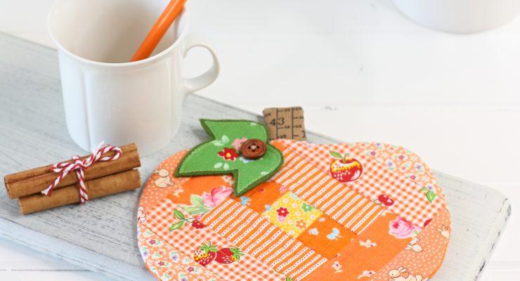 Patchwork Pumpkin Coaster